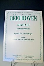 Curci Beethoven Sonata III for Violin & Piano Opus 12 No. 3 in Eb Major (232)