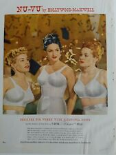 1949 women's bra for bountiful bust Hollywood Maxwell Nu-vu color ad