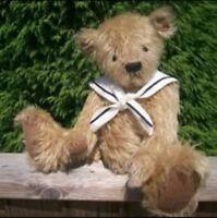 BJB Antique mohair bear clothes, Nautical sailors collar for teddy bears