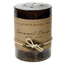 Caramel Peacan Scented 3x4 Pillar Candle  60 Hour Burn Time