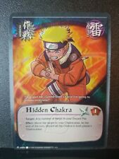 Naruto Tcg Hidden Chakra 004 1st Edition Wavy Textured Foil NM See Detailed Pics