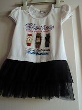 Robe fillette - 6 ans - Blanc/noir - Dentelle dos -