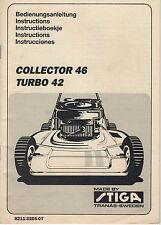 STIGA COLLECTOR 46 TURBO 42 MOWER OPERATORS MANUAL