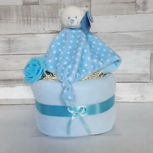 Beautiful 2 Two Tier Nappy Cake - Boy, New Baby / Baby Showers / Baby Gifts