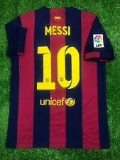 BARCELONA 2014/2015 MESSI HOME FOOTBALL SOCCER SHIRT JERSEY BOYS KIDS NIKE L