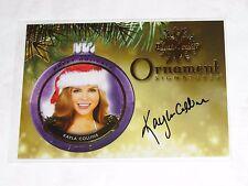2015 Benchwarmer KAYLA COLLINS Holiday #61 Gold Ornament Auto PLAYBOY Playmate