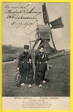 cpa AMSTERDAM 1907 GLOBE TROTTERS Dédicaces Willem et Theodor LOHMANN Artiste