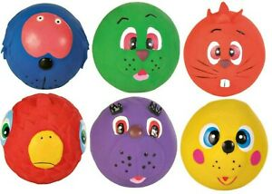 Dog Toy Faces Latex Quitschie Ball