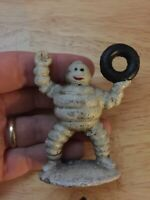 Michelin Man Cast Iron Collector Paperweight Antique Style Solid Metal Patina