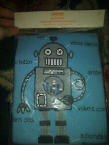 New nip Gymboree Gymmies 8 boy pajamas short sleeve set blue robots 🤖
