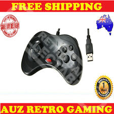 Black USB Controller GamePad For Sega Saturn Joystick PC & Mac Windows