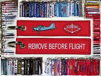Keyring Stinson Airplanes Remove Before Flight tag keychain pilot