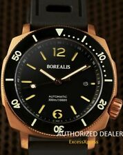 NEW BOREALIS NAVALE BRONZE Black Dial Rotating Bezel DIVER Watch WARRANTY
