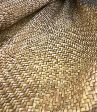 Beige SISAL WICKER PRINT Digital Curtain upholstery Fabric Material - 63''
