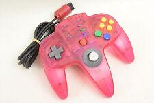 Nintendo 64 ASCII PAD 64 Controller Clear Pink ASC-0901 Tested N64 Japan 0210 *