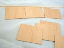 "Wainscot Panels 1/4"" wide  dollhouse wall miniature 7pc 1/12 scale w/ chair rail"