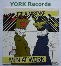 """MEN AT WORK - It's A Mistake - Excellent Condition 7"""" Single Epic A 3475"""