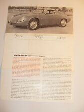 Alfa Romeo Giulietta SZ Zagato Original Sales Brochure Sheet