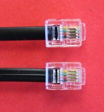 """RJ11 a RJ11 """" 15m"""" ADSL 4 fili a banda larga Cavo Nero per Router per ADSL FILTRO"""