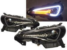 BRZ ZN6 2012-present DRL Dynamic Turn signal HID D4S Headlight BK for SUBARU LHD
