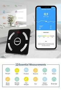 Body composition bluetooth scales fat analysis muscle weight water mass bones