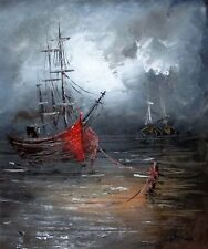 AMY's Oil Painting Art Knife decoration Abstract Seascape 50x40cm on wood frame