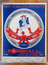 Original American Football League New England Patriots Cartel Aniversario  Plata 6a2c3a1fd86