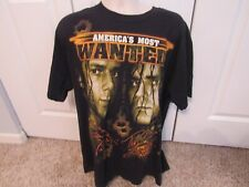 Rare Signed Americas Most Wanted Tag Team TNA Wrestling T Shirt--XL
