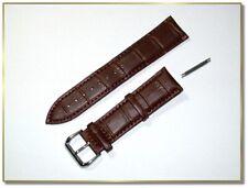hochwertiges echt Leder Uhrenarmband Dunkelbraun Krokodil 22mm breit  2891