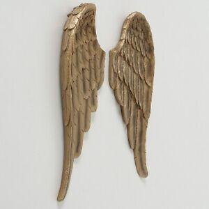 2 Engelsflügel Cosmo Wanddeko Engel Wandhänger Gold Flügel groß Neu