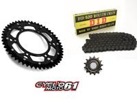 Kit Chaine DID+ Couronne Bi-métal Noir 13x50 Suzuki RMZ 450 2005 à 2017