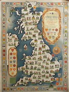 National Savings Poster, National Savings Map of the British Isles, 101 x 76cm