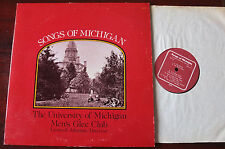 UNIVERSITY OF MICHIGAN MEN'S GLEE CLUB LP JOHNSON (1977) SIGNED PRIVATE USA