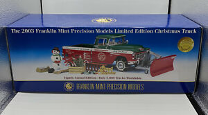 Franklin Mint 1955 Christmas Truck 2003 Limited Edition 1:24 New Unopened!
