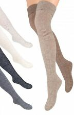 Overknee Strümpfe aus Wolle, Überknie Strick Socken