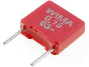 WIMA 150nF 0,15uF 40VAC 63VDC 5mm ±5% Condensatore in poliestere MKS2