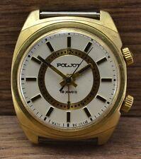 Men`s Vintage USSR SOVIET Russian mechanical watch POLJOT ALARM VIBRATES 2612.1