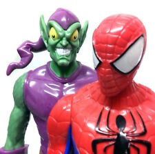 "Marvel Comics GREEN GOBLIN v SPIDERMAN 10"" titan toy figure hero & villain set"