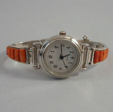 CALVIN BEGAY - NAVAJO STERLING SILVER SPINY OYSTER LADY'S WATCH