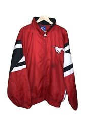 Vtg Starter Calgary Stampeders Windbreaker Sz XXL CFL Football Alberta Red