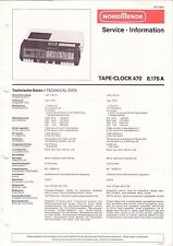 NORDMENDE - Tape-Clock 8.176 A - Service Information - B2979