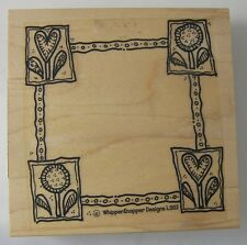 Hearts & Flowers Frame Rubber Stamp by Whippersnapper L003 3.5 inches