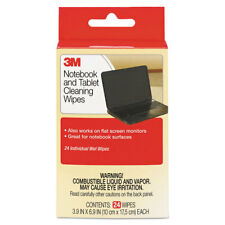 3M Notebook Screen Cleaning Wet Wipes Cloth 7 x 4 White 24/Pack CL630