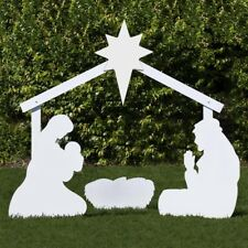 Outdoor Nativity Store Holy Family Outdoor Nativity Set (Large, White)