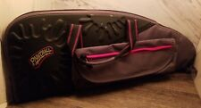 ☆Nice☆ Airsoft Paintball Gun Bag Carrying Case Accessories Bag Grey Red ☆Look☆