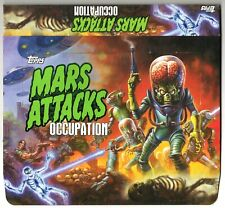 MARS ATTACKS OCCUPATION SET OF 3 UNFOLDED BOXES SILVER, GREEN & RED FOIL STAMPED