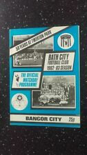 Bangor City Football Non-League Fixture Programmes (1980s)