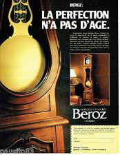 PUBLICITE ADVERTISING 056  1983    Horloges Comtoises Beroz à Morbier