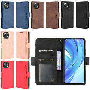 Leather Wallet Bag Case Cover for Mi 11 Lite 4G/5G Mobile Phone