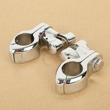 """32mm 1 1/4"""" Engine Guard Footpeg Clamps Mounting Kit For Harley Kawasaki Yamaha"""